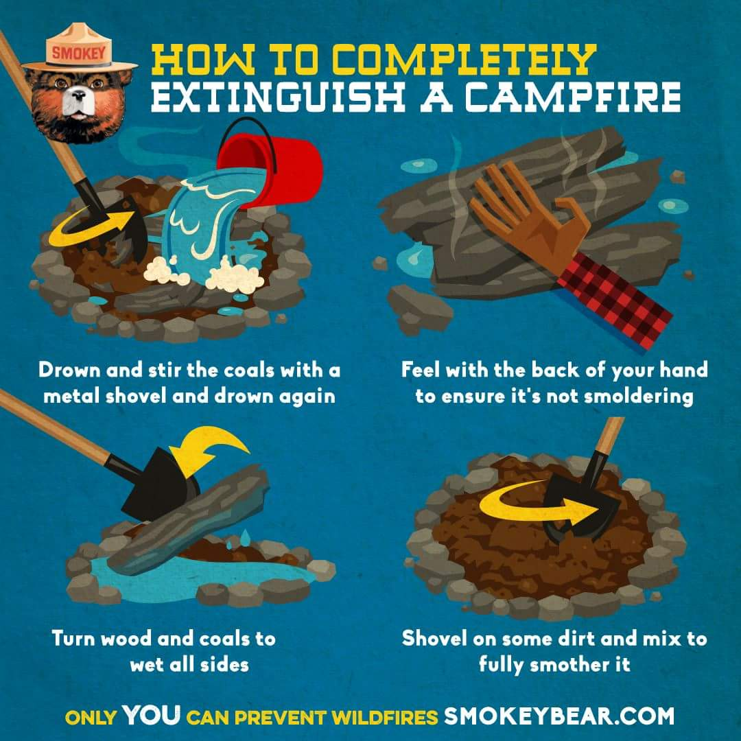 Fully Extinguish a Camp Fire