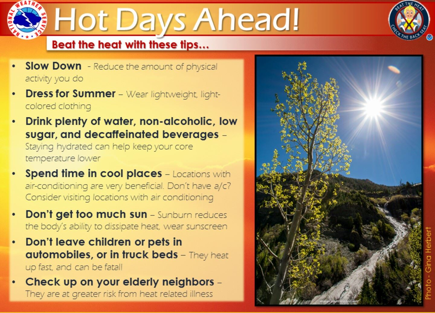 Hot Days Ahead, Beat the Heat