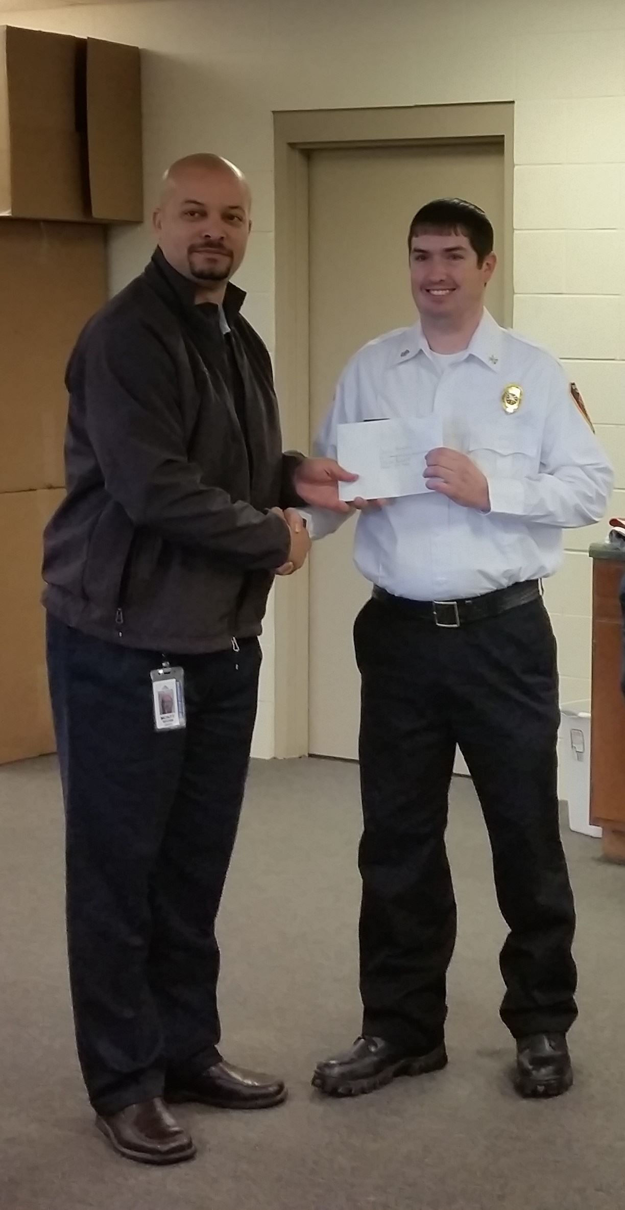 Check Presentation for Grant Award from GP Bucket Brigade